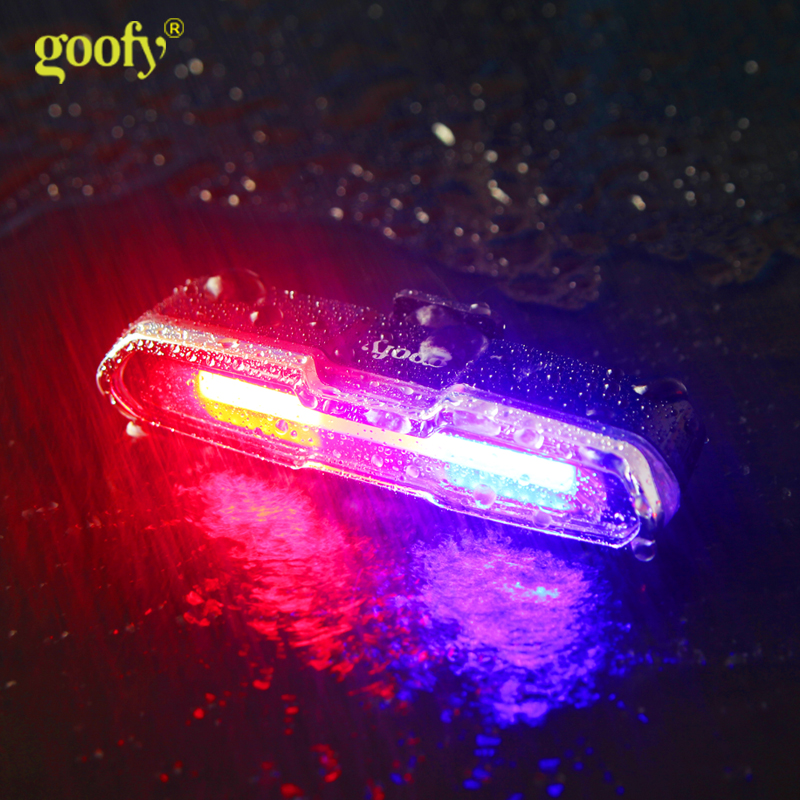 USB Rechargeable Cycling Bicycle Bike Front Rear Light 4 6 Modes LED Tail Lamp
