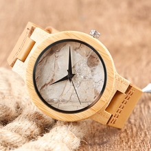 Marble Grain Dial Wooden Wristwatch (4 Types)