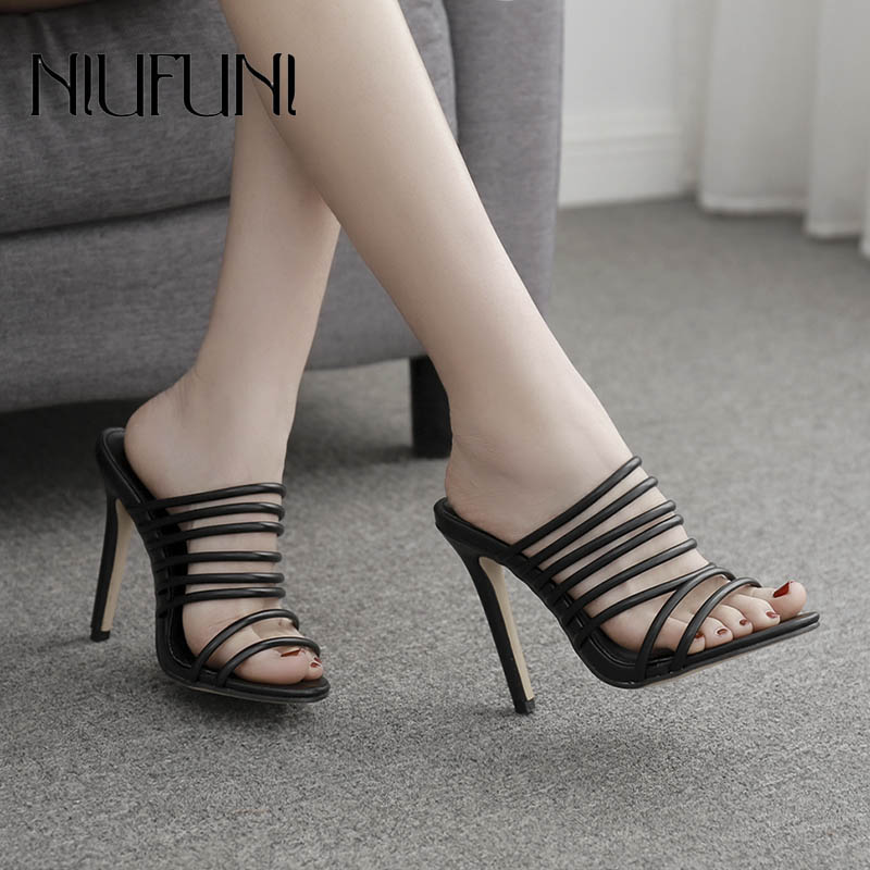 Roman Shoes Summer New Arrival Women 39 s Slippers Ankle Strap High Heels Hollow Fashion Sandals Wear Ladies Slippers Casual Shoes in High Heels from Shoes
