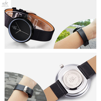 Shengke New Brand Fashion Leather Band Women Watches Casual Style Ladies Wristwatches Relogio Feminino Quartz Watch
