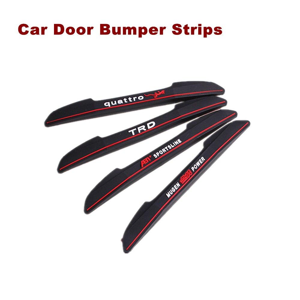 Bumper sticker design tips - 4pcs Car Decoration Strip Sticker Decals Car Door Bumper Strip For Vw Volkswagen Honda Toyota Audi