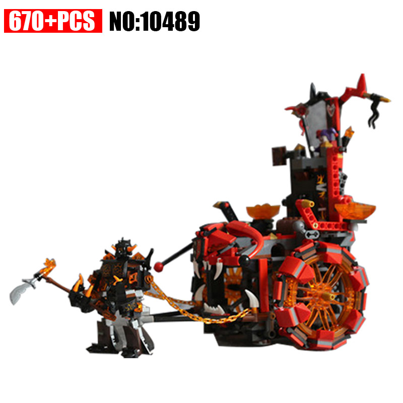 10489 670pcs Nexus Knights Jestro Evil Mobile Combination Building Blocks set Compatible 70316 DIY Educational Bricks Toy lepin 14004 knights beast master chaos chariot building bricks blocks set kids toys compatible 70314 nexus knights 334pcs set