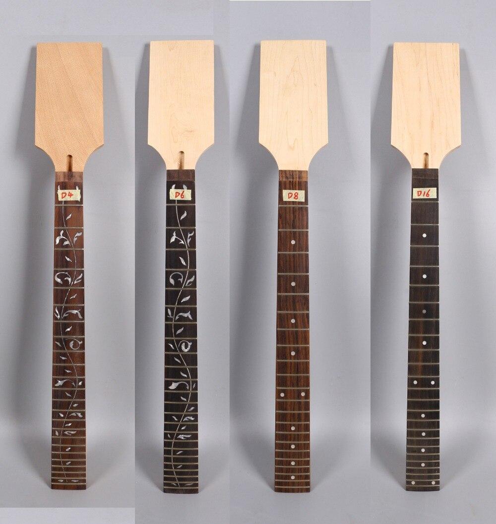 Yinfente érable guitare cou 22/24 Fret 25.5 pouces écrou de verrouillage palissandre Fretboard pour ST JK guitare électrique remplacement