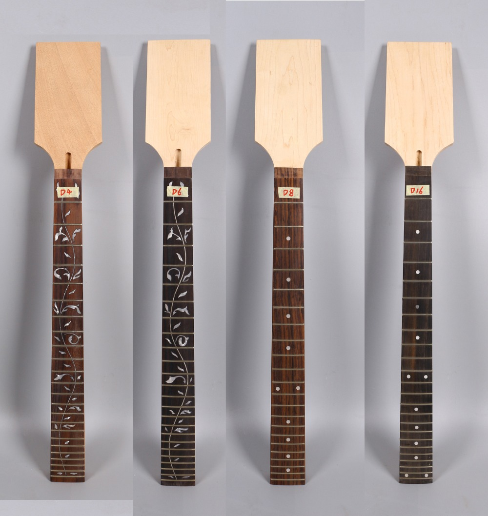 Yinfente Maple Guitar Neck 22/24 Fret 25.5 Inch Locking Nut Rosewood Fretboard For ST JK Electric Guitar Replacement