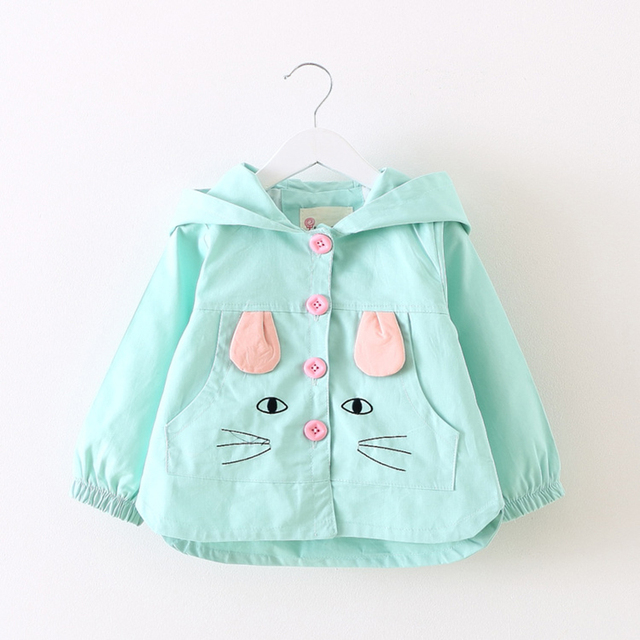 Stylish Coats for Children – Sky blue polka dots