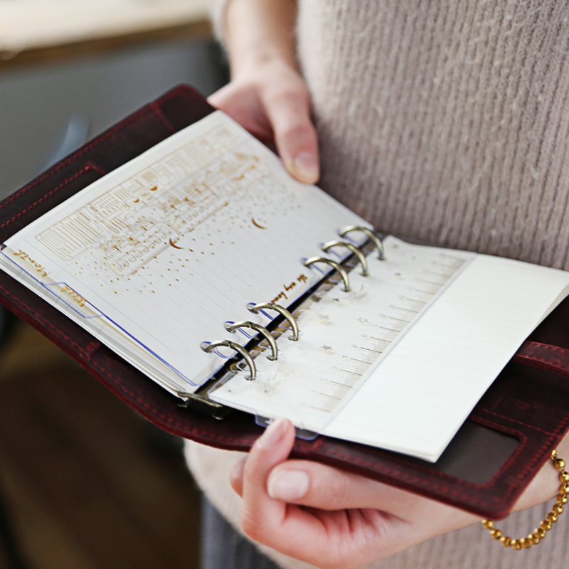 3pcs/set Bronzing Transparent PVC Bookmark Ruler Notebook Index Bullet Journal Divider Accessories Agenda Organizer Separator A6