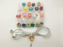 цены на 10pcs Cute Cartoon USB Cable Earphone Protector Headphones Line Saver Cable Winder Cord Holder For iphone 5 5s 6 7 Free shipping в интернет-магазинах