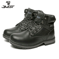 QWEST Warm Zip& Lace Up Fashion Leather Boot High Quality Anti slip Kid Shoe for Boys Size 35 41 82WB SP 0536