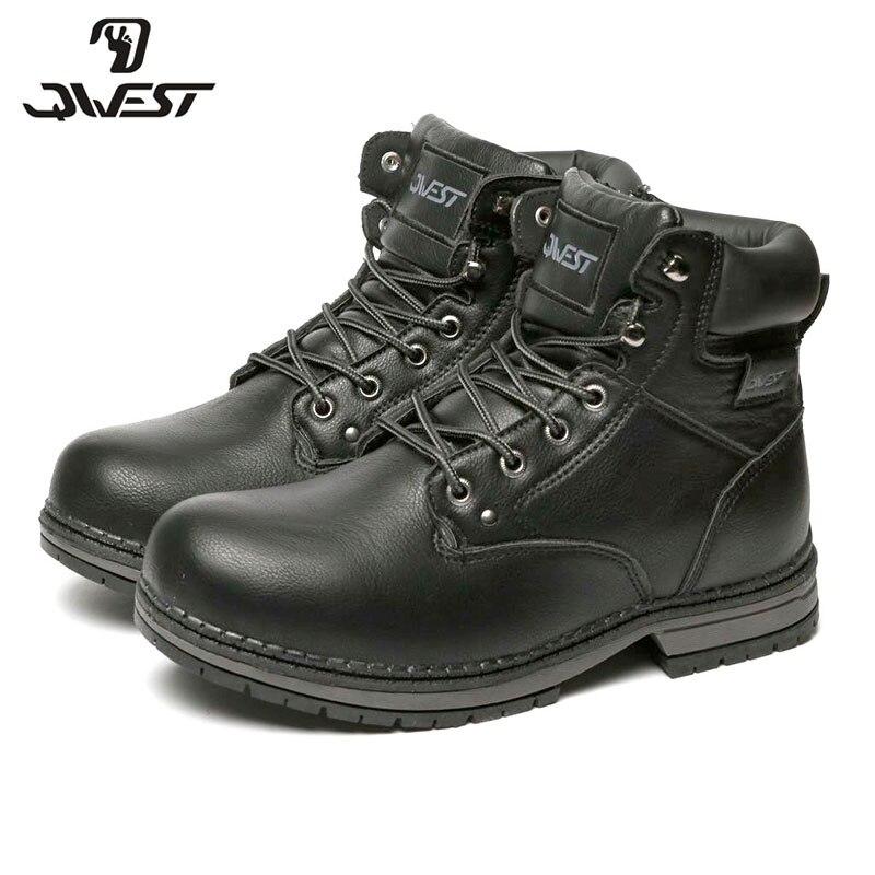 QWEST chaud Zip & à lacets mode cuir botte haute qualité anti-dérapant enfant chaussure pour garçons taille 35-41 82WB-SP-0536