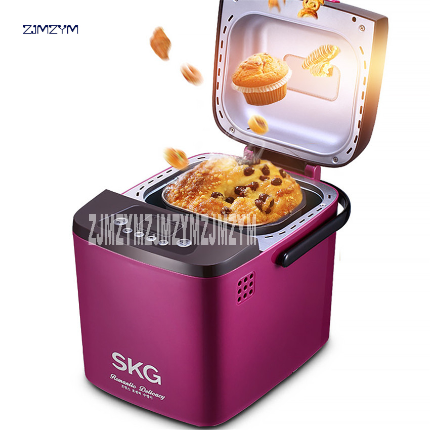 500W SKG3933 automatic bread machine intelligent multi-functional bread yogurt rice wine producer and jam and cake machine 500g new hot steamed bread machine home full automatic intelligent and noodles cake rice bag bread makers amb 512 bread machine 220v