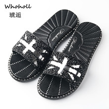 Whoholl 2019 Slippers Women Slides Flats Women Summer Beach Flip Flops Sandals Women Shoes Slippers Casual Shoes Sandalias Mujer new fashion women slippers platform butterfly knot summer beach slides flip flops comfortable flat shoes sandalias mujer 2018