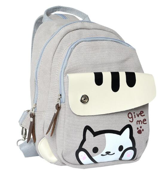 Around the backyard cat backpack anime wholesale multi-function dual-use bag shoulder bag backpack kitty cat backyard neko atsume backpack comic periphery dual portable canvas shoulders bag cartoon accessory kids anime gift