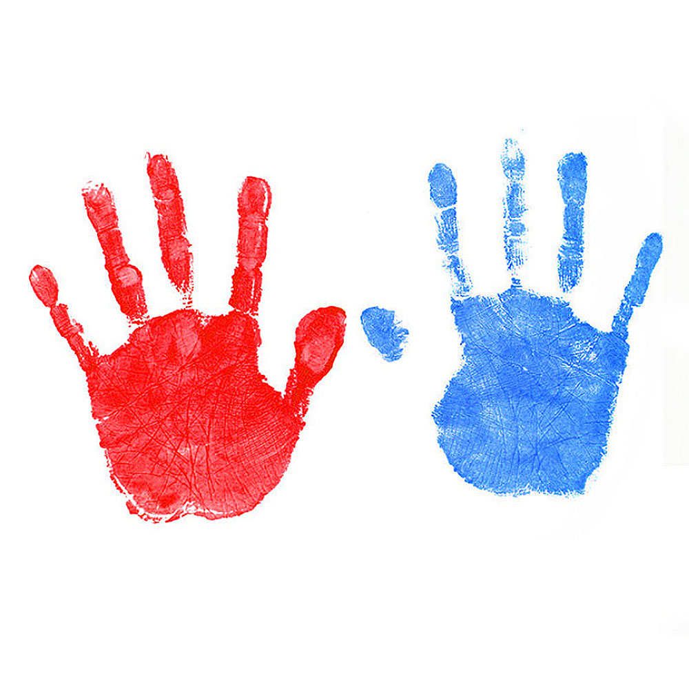 Newborn Souvenir Baby Care Imprint Hand Casting Kit Inkless Ink Non-Toxic Baby Handprint Footprint Pad Infant Baby Toys Gifts
