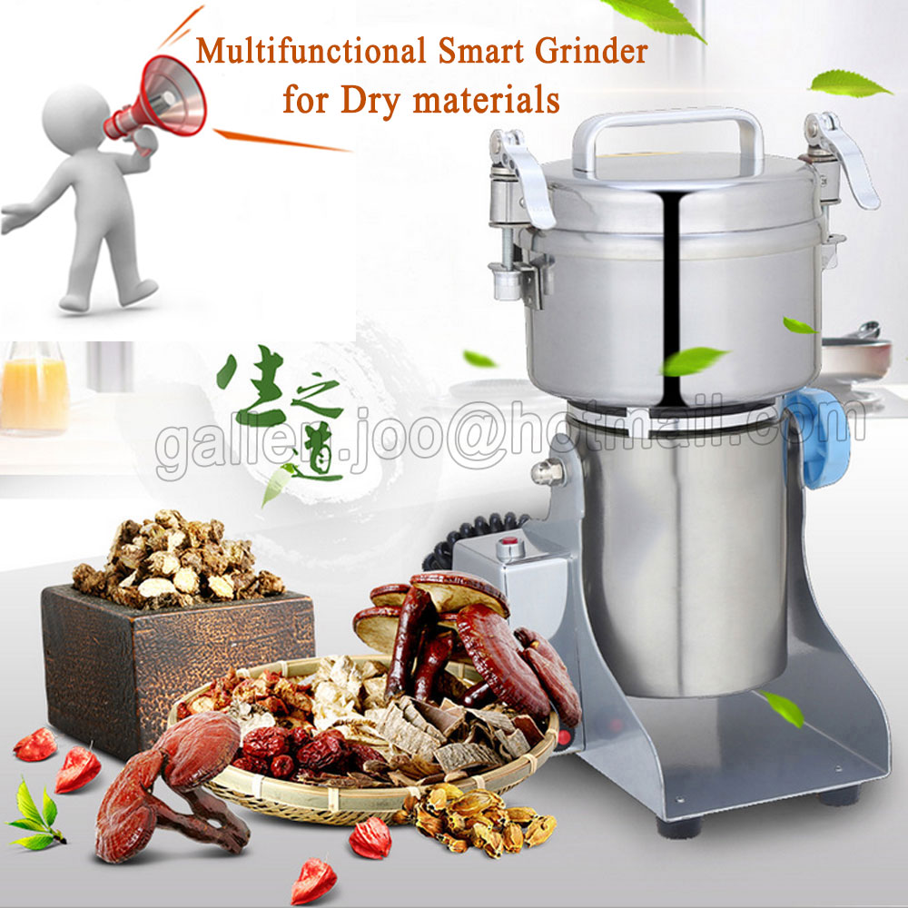 Multipurpose Swing Type Portable Grinder 2500g/h Herb Flood Flour Pulverizer Food Mill Grinding Machine Stainless steel CE high quality 2000g swing type stainless steel electric medicine grinder powder machine ultrafine grinding mill machine