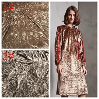 JaneYU Korean Imported Diamond Velvet Jacquard Velvet Elastic Knitted Fabric Diamond Velvet Dress Fabric