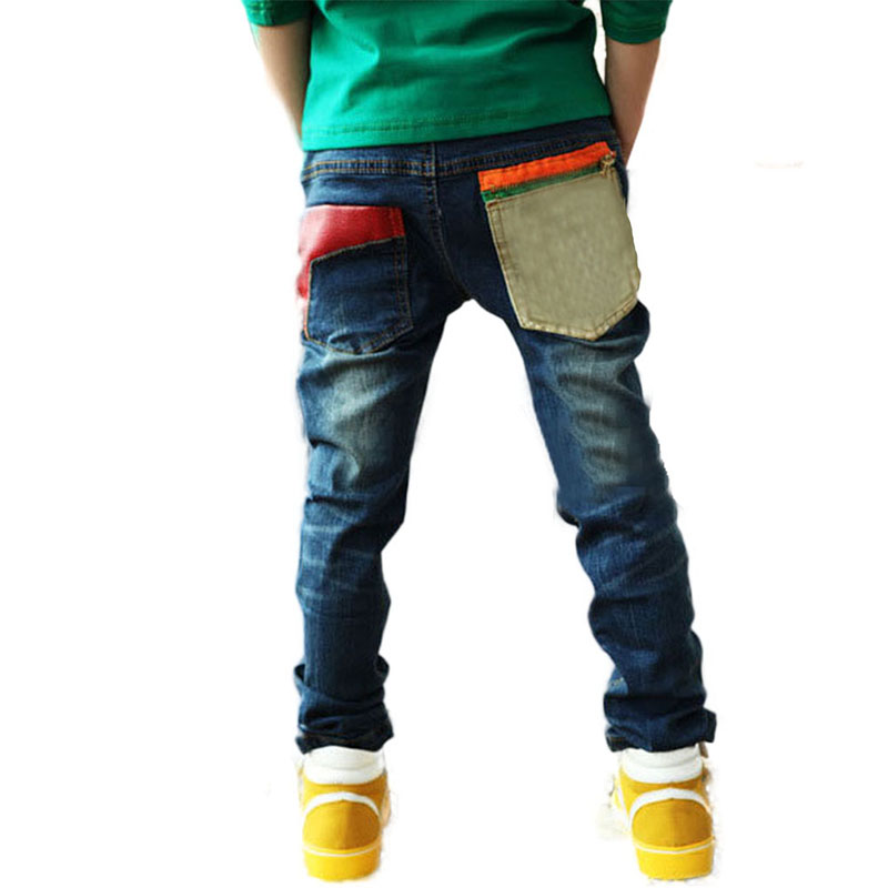 Cotton Blend Toddler Kid Cool Boy Jeans Denim Blue Close-fitting Jeans Pant Trousers 2-7Y Child New