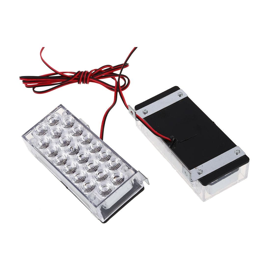 2 Pcs Of MOOL 3 Modes 22 LED Strobe Taillight Flashing White