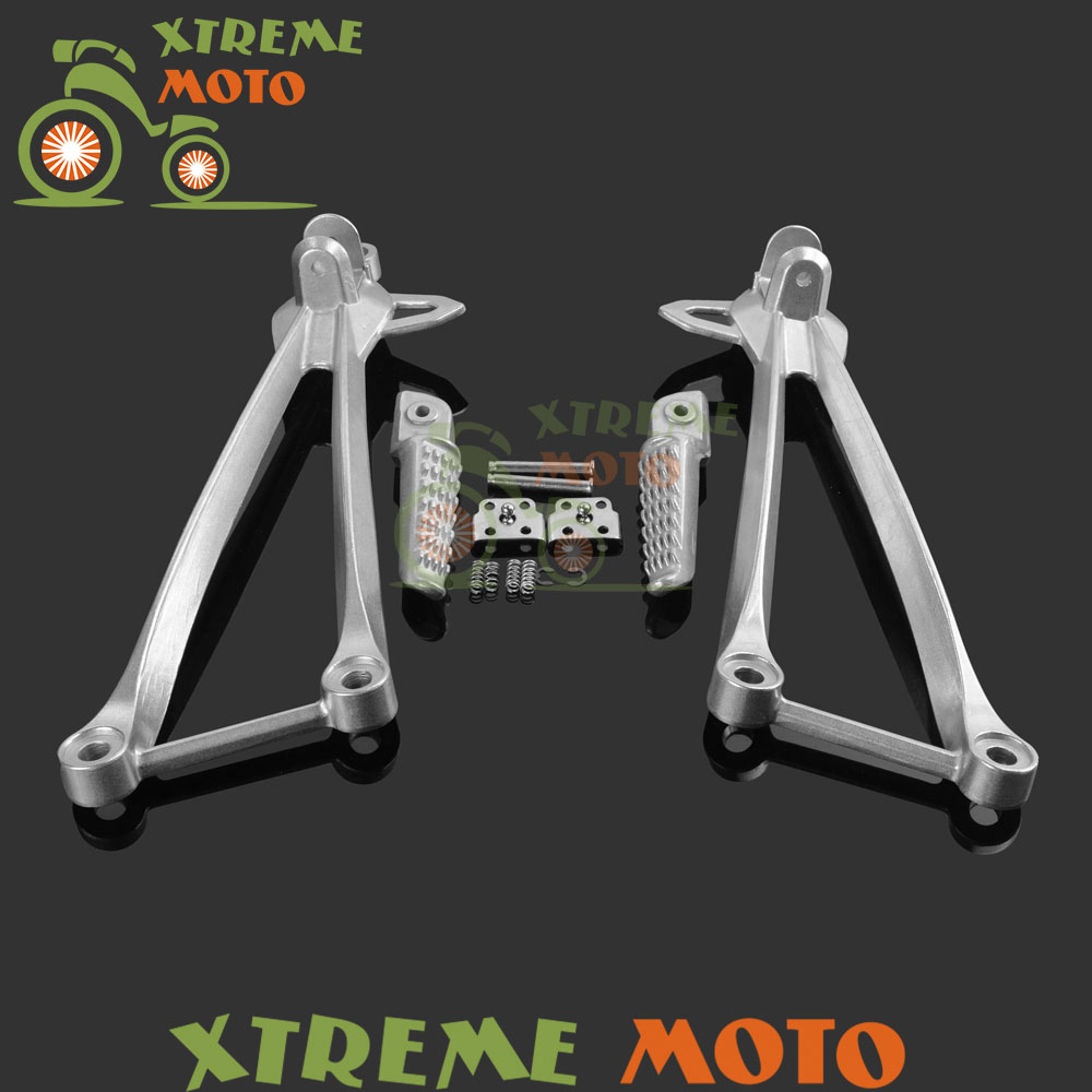 Motorcycle Spare Parts Accessory Rear Passenger Footrest Foot Peg Rests Pedals Bracket Mount For ZX6R 09 10 11 ZX10R 08 09 10