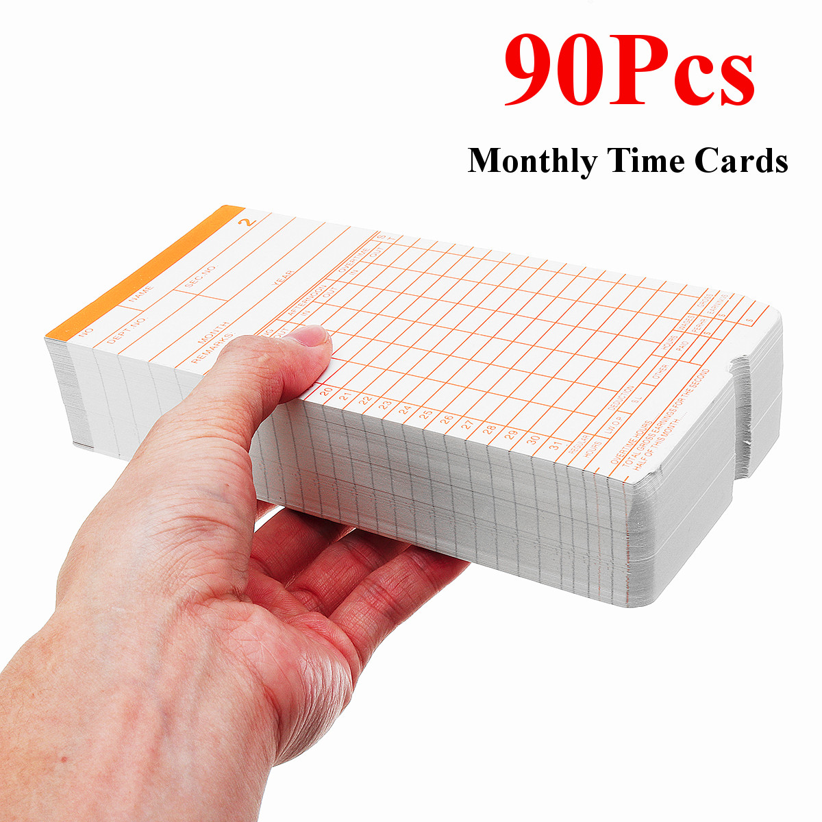 90Pcs/lot Office Use Employee Electronic Punch Card Clock Paper Time Attendace Clock DIY Kit Digital Time Clock Card