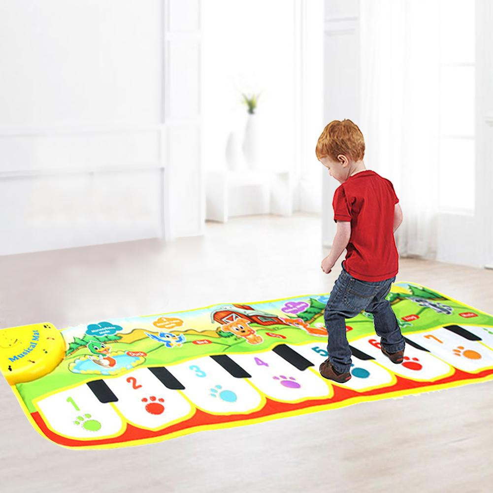 Childrens Early Education Puzzle Toy Crawling Blanket Hand and Foot Touchable Piano Blan ...