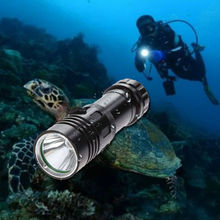 Underwater 50m 20000 Lumens T6 LED Scuba Diving Flashlight Lamp Torch Light HOT 6000 lumens flash light xml t6 8 mode 60m led diving flashlight waterproof scuba dive torch underwater hunting use 26650