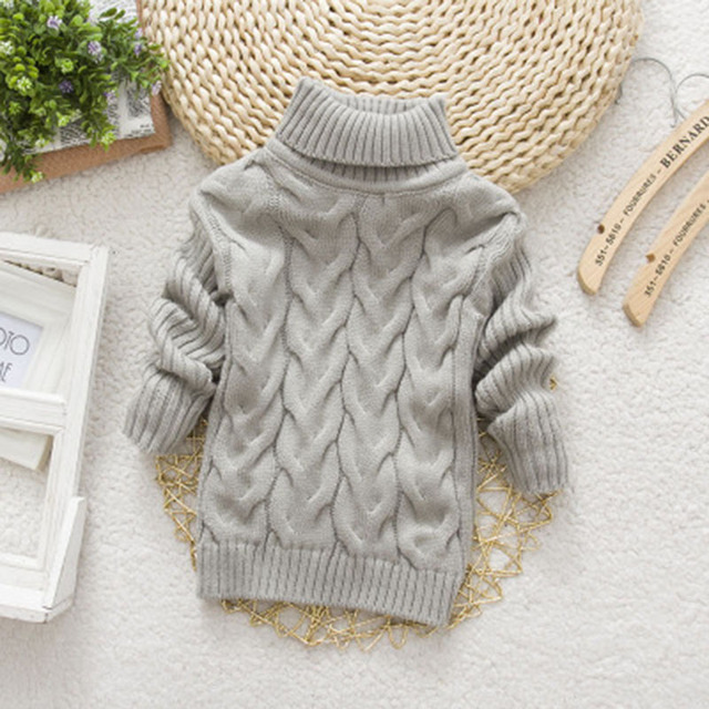 2016 Unisex winter autumn infant Cartoon high collar boy girl child sweater baby turtleneck sweater children pullover sweater