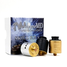 Skill RDA Atomizer Rebuildable Dripping Tank with 24mm Diameter 2 Post Airflow Control Peek Insulator Electronic Cigarettes