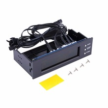 LCD Panel CPU Fan Speed Controller Temperature Display 5 25 inch PC Fan Speed Durable Controller