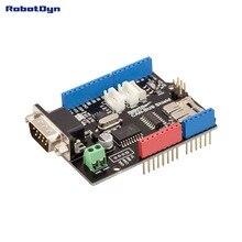 CAN バスシールド。 Arduino の互換性の。 MCP2515 (CAN コントローラ) と MCP2551 (CAN トランシーバ) 。 GPS 接続します。 MicroSD カードリーダー。