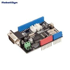 Image 1 - Щит CAN BUS. Совместим с Arduino. MCP2515 (CAN controller) и MCP2551 (CAN приемопередатчик), Подключение GPS. Устройство для чтения карт MicroSD.