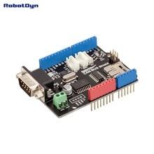 CAN   BUS Shield. สำหรับ Arduino MCP2515 (CAN   controller) และ MCP2551 (CAN   transceiver) เชื่อมต่อ GPS เครื่องอ่านการ์ด MicroSD.
