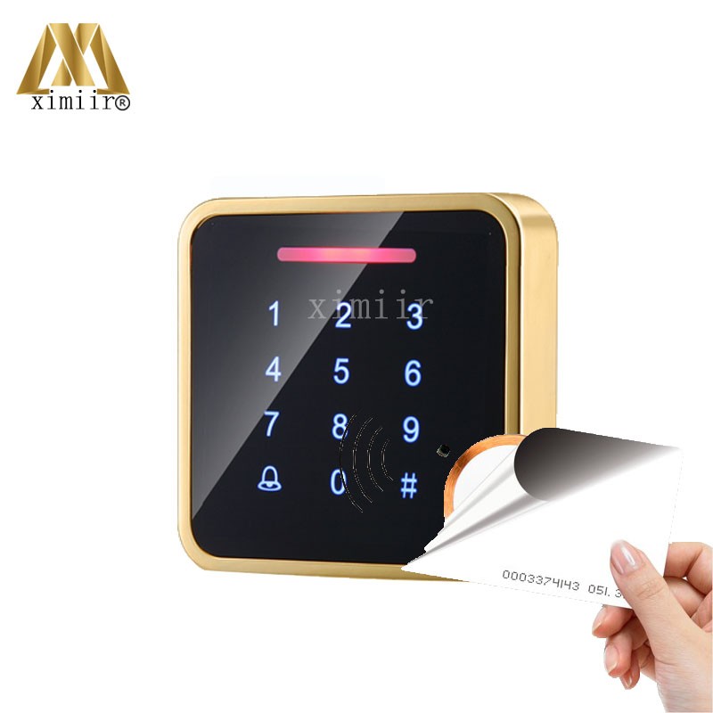 Good Surface Waterproof Touch Keypad 125KHZ Proximity RFID EM Card Access Control System Standalone Smart Card Access Control proximity rfid 125khz em id card access control keypad standalone access controler 2pcs mother card 10pcs id tags min 5pcs