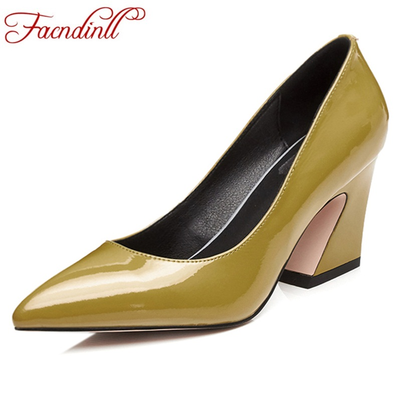 FACNDINLL new fashion spring autumn women pumps sexy genuine leather high heel pointed toe office ladies black shoes dress pumps 2017 new sexy pointed toe high heel women pumps genuine leather spring summer shoes woman fashion dress party casual shoes pumps