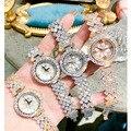 Женские наручные часы с кристаллами  роскошные брендовые наручные часы для женщин  2019