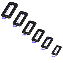 Rings Buckles Backpacks Straps Shoes-Bags Rectangle Adjustable Plastic Looploc for 10pcs/Lot