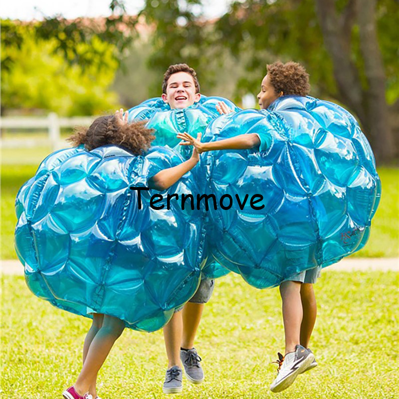 inflatable body suit,90cm Wearable Body Bubble Zorb Soccer Suit for kids,knocker zorb ball,blue outdoor child bumper soccer ball free shipping 1 0mm tpu bumper ball bubble soccer ball inflatable body zorb ball suit bubble soccer bubble football loopyball