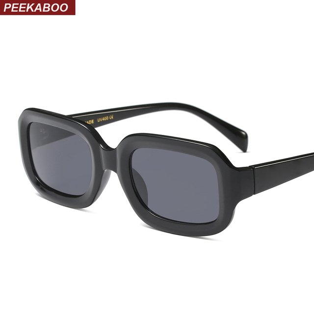 d0192813d Peekaboo pequeno retangular óculos de sol das mulheres retro 2018 branco  roxo vermelho quadrado preto óculos