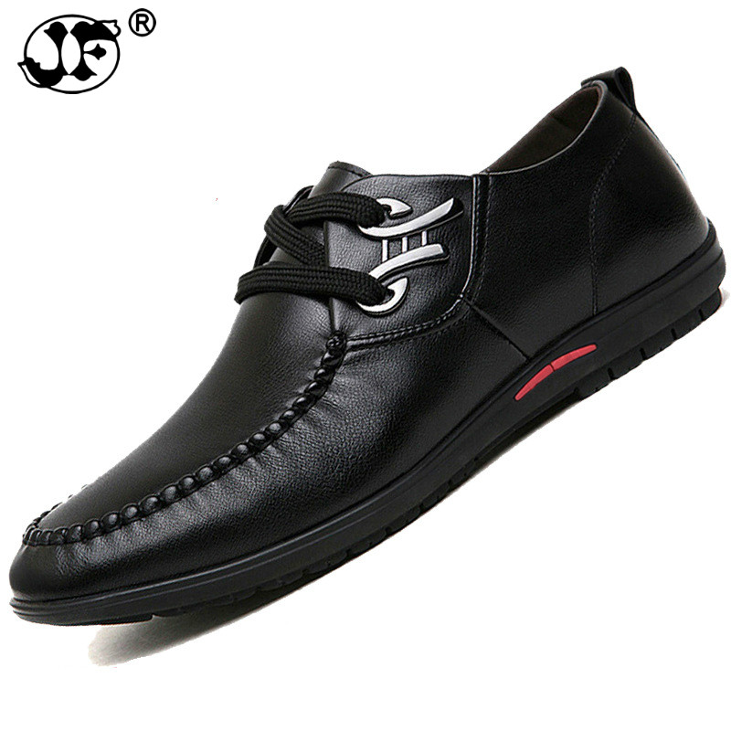 Plus Size 36-44 leather men loafers Top quality comfortable handsome brand men flats Boat shoes plus size dotted ruffled blouson top