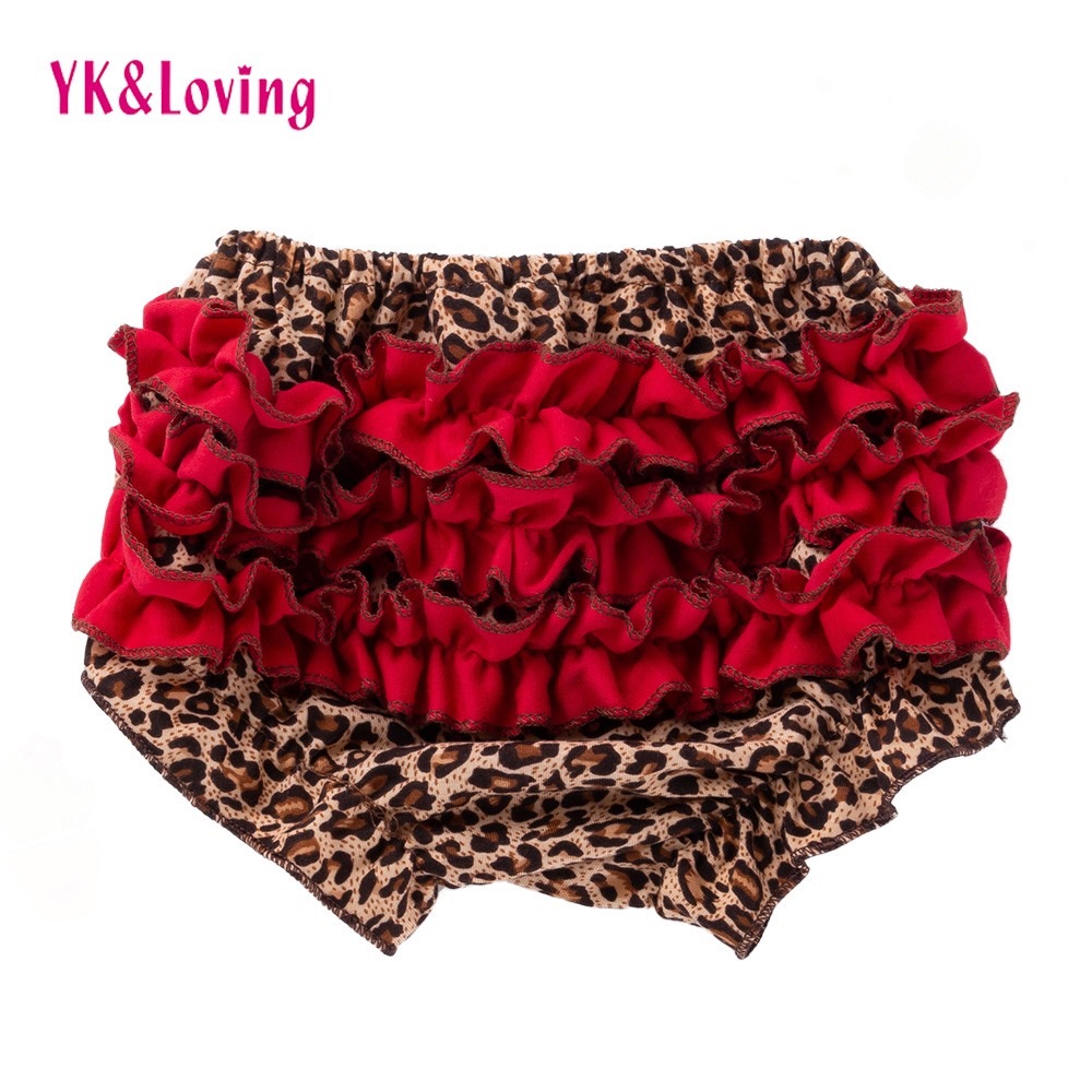 Leopard Bloomers Baby Shorts Girls  Ruffled Panties Baby Girls Short Diapers Kids Flower Babies Bloomer Suit For 3-18 Months