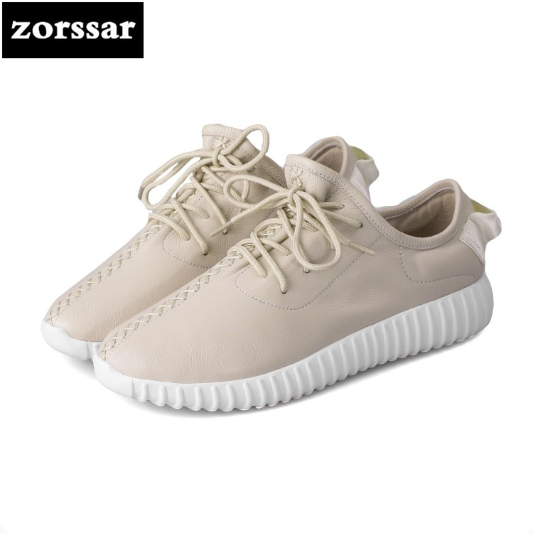 {Zorssar} 2018 New Fashion Genuine Cow leather Leisure flat Women sneakers Casual Comfortable Flats Loafers womens Driving shoes instantarts vintage punk skull candy print girls flats shoes fashion comfortable breathable women sneakers casual students flat