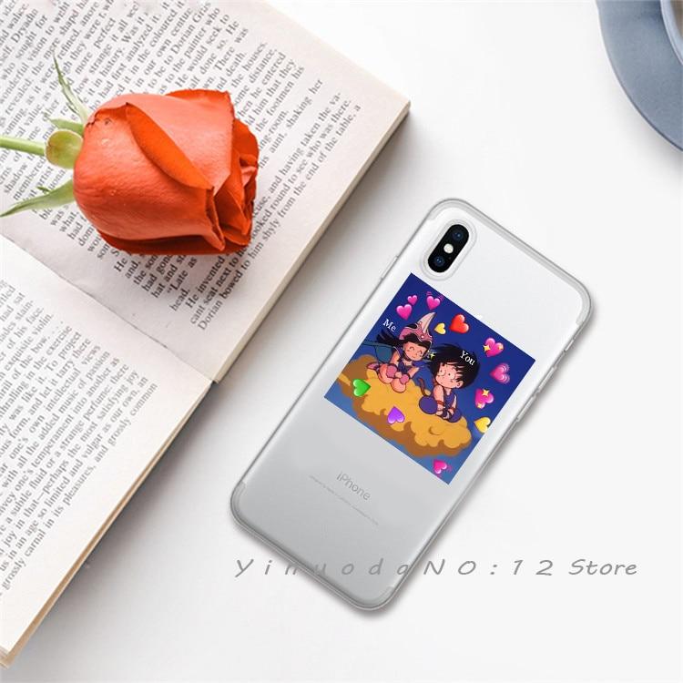 Yinuoda супер милый кот собака мультфильм розовый в форме сердца ты и я серия HD Прозрачный чехол для телефона для iphone 6 7 8 Plus X XS XSMax 5S - Цвет: 4