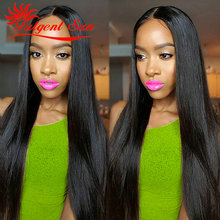 Grade 7a Virgin Brazilian Straight Hair Natural Black 8-30 inch 4PCS Light  Brazilian silk Straight Weave