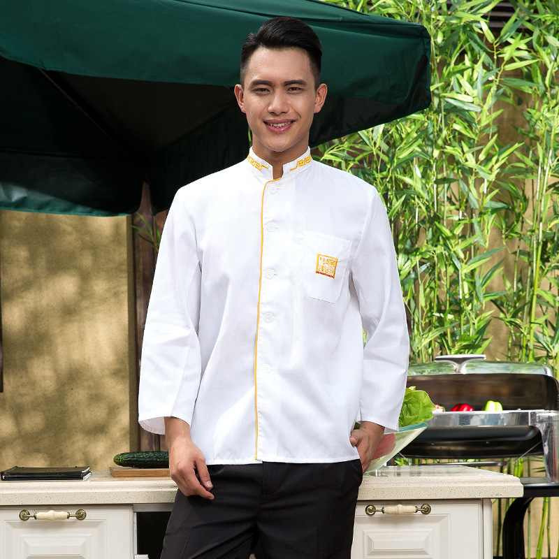 Hotel Chef's Uniform Long Sleeves Outfit Catering Kitchen Clothes Restaurant Food Service Chef Jacket Chef Uniform B-5567