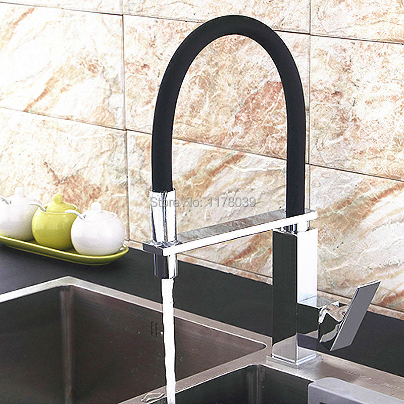 US $109.74 14% OFF|brushed copper kitchen sink faucet,single handle single  hole kitchen faucet,Brushed spring hot and cold mixer tap,J17077-in Kitchen  ...