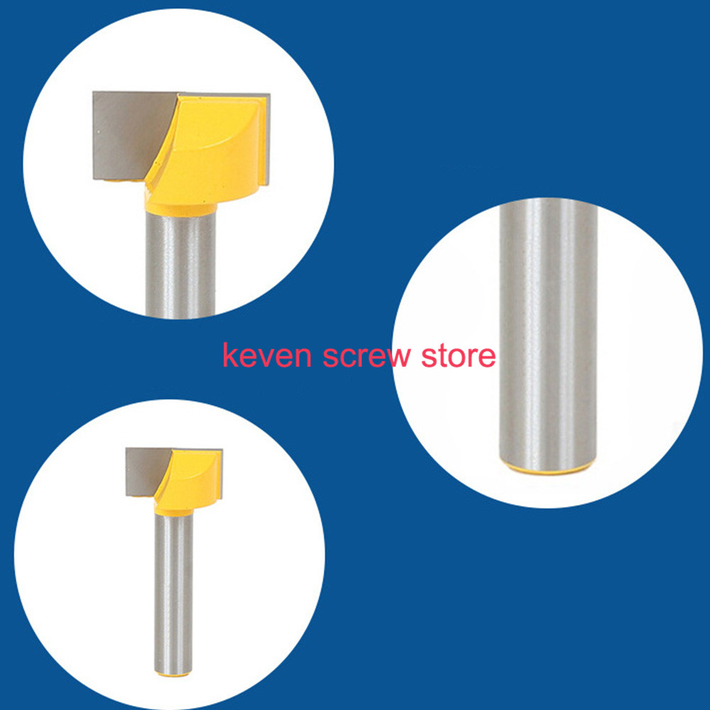 1pcs 1/4 Small handle Shank T-slot Wood Router Bit T-track Slotting Woodworking Milling Cutter Hand Tools high grade carbide alloy 1 2 shank 2 1 4 dia bottom cleaning router bit woodworking milling cutter for mdf wood 55mm mayitr