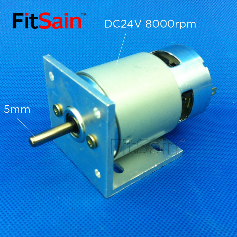 FitSain--775 motor with bracket DC 24V 8000rpm shaft 5mm Large Torque high-power Double ball bearing Electric tool
