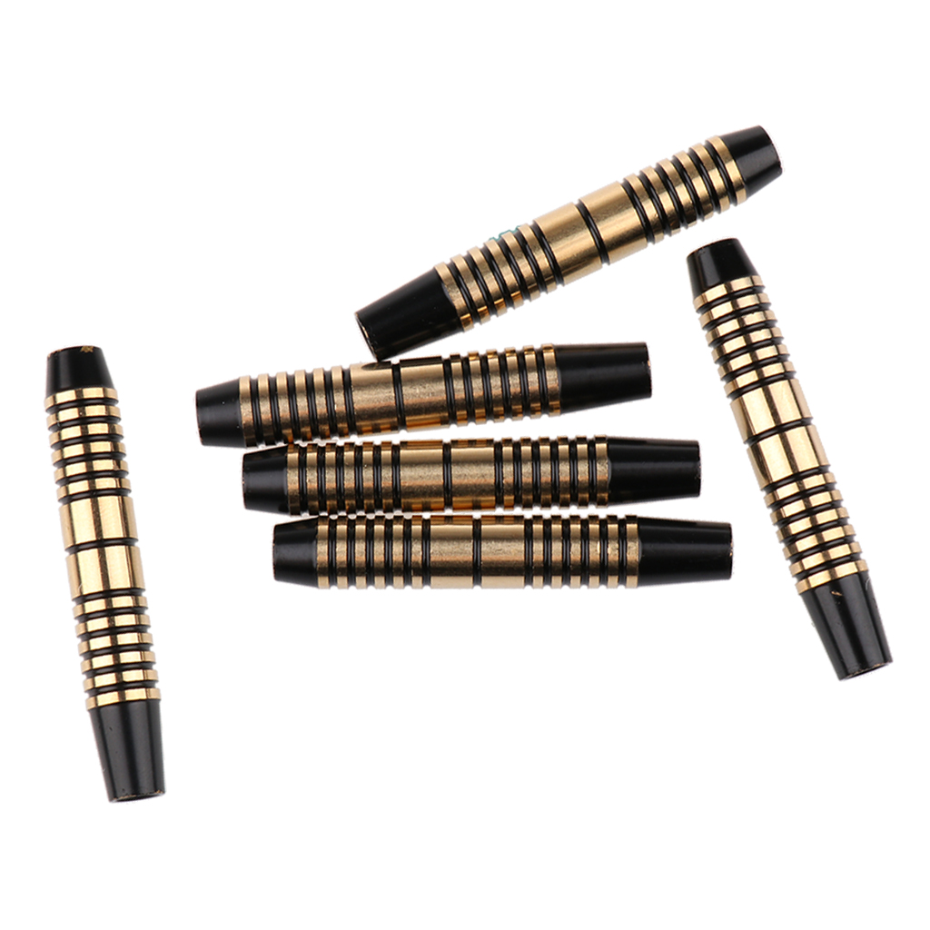 6 Pieces Pro 16 Grams Brass Barrels For Soft Tip Darts & Steel Tip Darts Electronic Dart Accessories