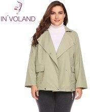IN VOLAND Women Short font b Jacket b font Coat Plus Size XL 5XL Autumn Long