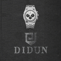 DIDUN men luxury watches men steel quartz watch men business watch sports watch 30M waterproof