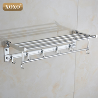 NEW Finether product solid chrome wall mounted aluminum bathroom shelf /towel racks 1071